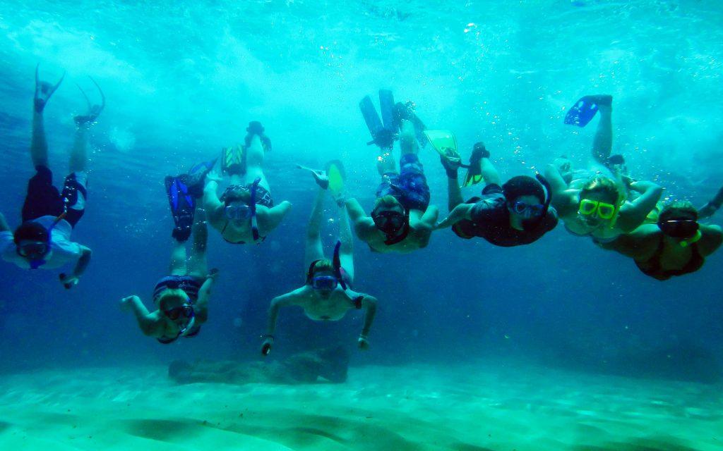 Snorkel groups Mediterranean